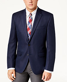 Lauren Ralph Lauren Men's Classic-Fit Ultraflex Navy Herringbone Sport Coat