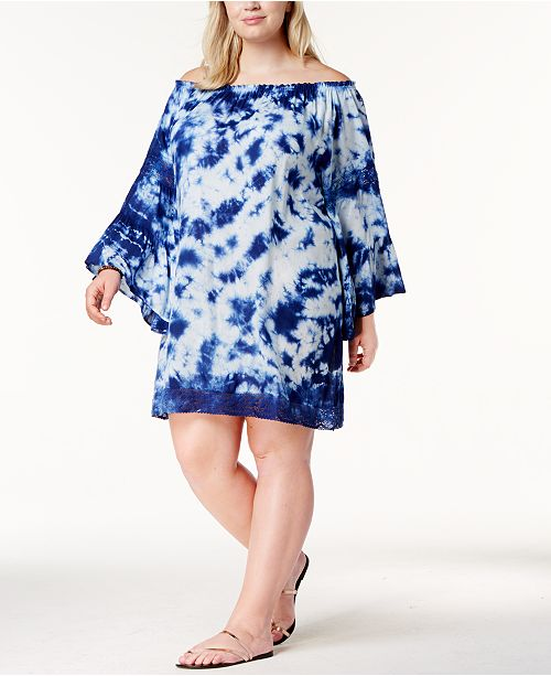532ef725817 Raviya. Plus Size Tie-Dyed Off-The-Shoulder Cover-Up. 1 reviews. main  image  main image ...