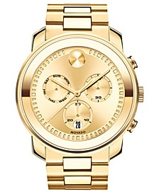 Men's Swiss BOLD Gold-Tone Stainless Steel Bracelet Watch  48mm