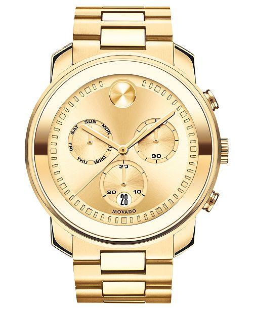 7dead5226c2dd ... Movado Men s Swiss BOLD Gold-Tone Stainless Steel Bracelet Watch ...