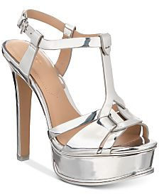 d04b88d5e9d8 silver high heel platform sandals - Shop for and Buy silver high ...