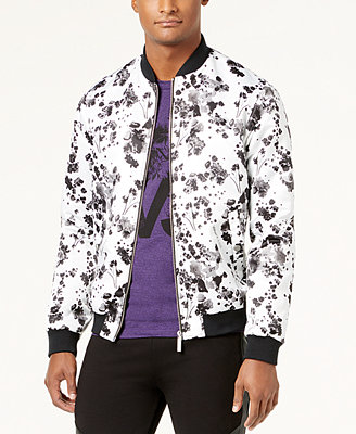 Men's Classic Fit Floral Print Bomber by Versace