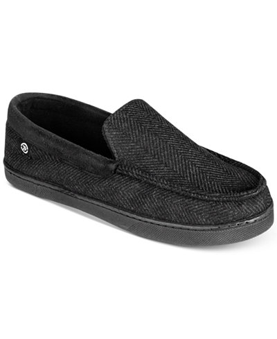 Isotoner Signature Men's Herringbone Moccasin Slippers