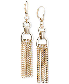 DKNY Gold-Tone Chain Drop Earrings, Created for Macy's