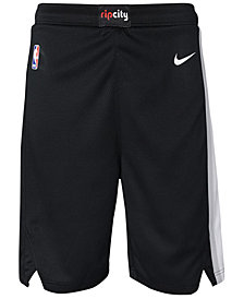 Nike Portland Trail Blazers Icon Swingman Shorts, Big Boys (8-20)