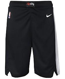 Nike Portland Trail Blazers Icon Swingman Shorts, Big Boys (8-20)