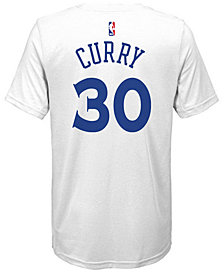 Nike Stephen Curry Golden State Warriors Icon Name & Number T-Shirt, Big Boys (8-20)