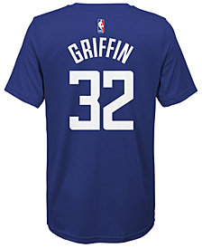 Nike Blake Griffin Los Angeles Clippers Icon Name & Number T-Shirt, Big Boys (8-20)