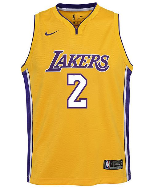 e4f2be902 Nike Lonzo Ball Los Angeles Lakers Icon Swingman Jersey