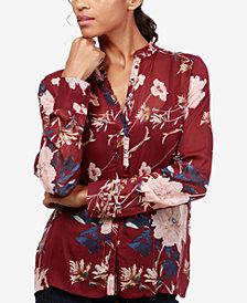 Lucky Brand Ruffled Floral-Print Shirt