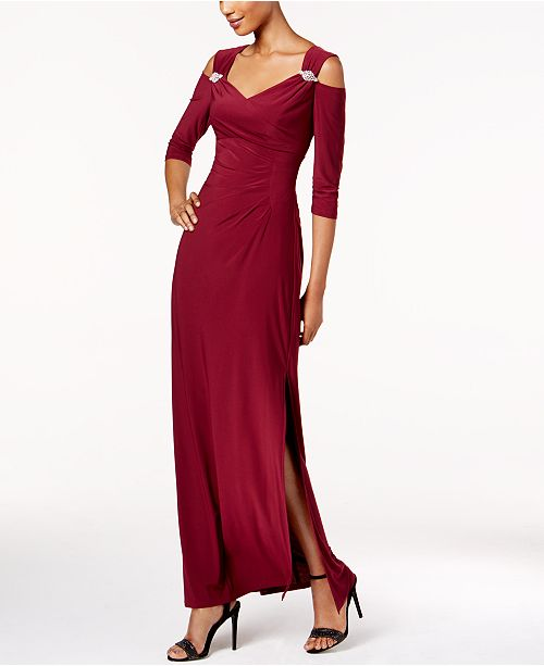 R M Richards Cold Shoulder Gown Dresses Women Macys