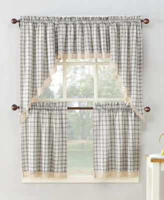 918 Maisie Plaid Kitchen Curtain Pairs U0026 Valances