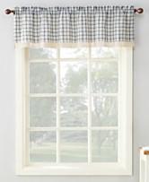 918 Maisie Plaid 54 X 14 Rod Pocket Kitchen Curtain