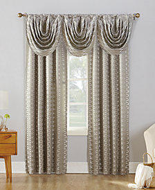 CLOSEOUT! Sun Zero Atticus Metallic Geometric Jacquard Blackout Lined Rod-Pocket Window Treatment Collection