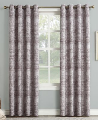 """Darren Distressed Textured Global Jacquard 50"""" x 63"""" Blackout Lined Grommet Curtain Panel"""