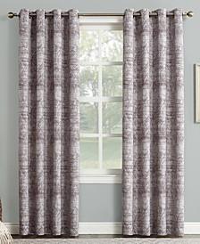 "Darren 50"" x 95"" Distressed Textured Jacquard Blackout Curtain Panel"