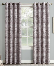 "Sun Zero Darren Distressed Textured Global Jacquard 50"" x 95"" Blackout Lined Grommet Curtain Panel"