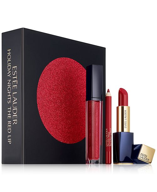 ... Estee Lauder 3-Pc. The Red Lip Gift Set ...