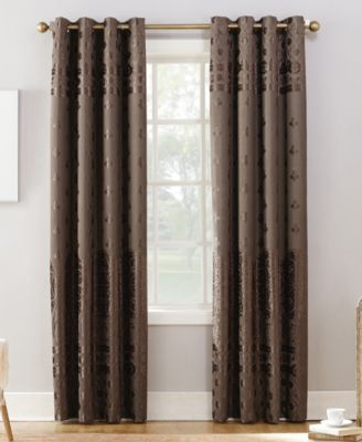 Elidah Textured Velvet Medallion 50 X 63 Energy Efficient Blackout Grommet Curtain Panel