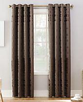 Sun Zero Elidah Textured Velvet Medallion Energy-Efficient Blackout Grommet Curtain Panels