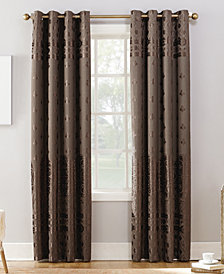"Sun Zero Elidah Textured Velvet Medallion 50"" x 63"" Energy-Efficient Blackout Grommet Curtain Panel"