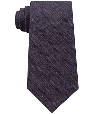 Calvin Klein Men's Unsolid Solid Stripe Tie