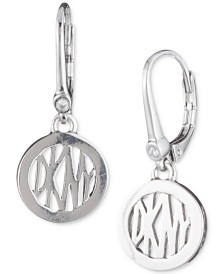 DKNY Logo Circle Drop Earrings, Created for Macy's