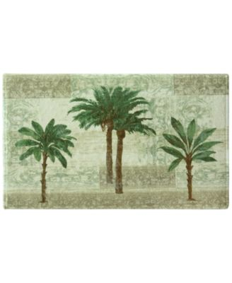 "Citrus 20"" x 33"" Palm-Print Bath Rug"