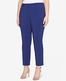 Tahari ASL Plus Size Cuffed Bi-Stretch Pants