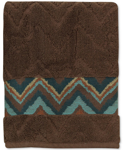 Bacova Sierra Cotton Zig-Zag Hand Towel