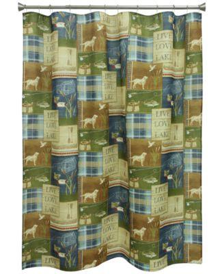 "Live Love Lake 70"" x 72"" Graphic-Print Shower Curtain"