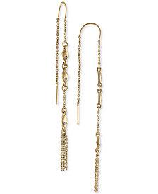 RACHEL Rachel Roy Gold-Tone Pavé Link & Chain Tassel Threader Earrings