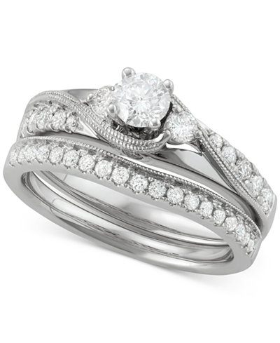 Diamond Bridal Set (7/8 ct. t.w.) in 14k White Gold