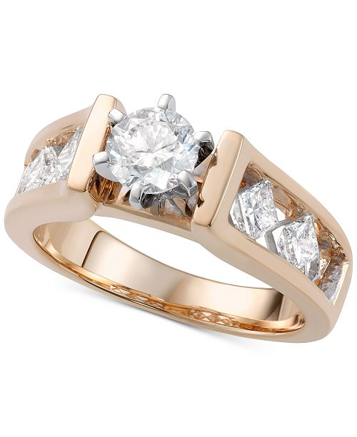 Macy's Diamond Engagement Ring (1-5/8 ct. t.w.) in 14k Gold