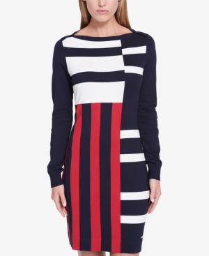 Tommy Hilfiger Mixed-Stripe Sweater Dress, Created for Macy's thumbnail