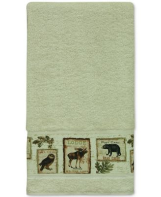 Lodge Memories Cotton Graphic-Print Bath Towel