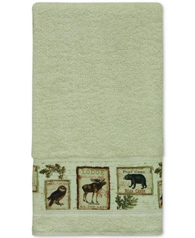 Bacova Lodge Memories Cotton Graphic-Print Bath Towel