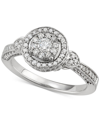 Diamond Multi-Level Halo Engagement Ring (3/4 ct. t.w.) in 14k White Gold