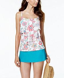 Coco Reef Frenza Bra-Sized Underwire Tankini Top & Swim Skirt