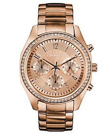 Women's Chronograph Rose Gold-Tone Stainless Steel Bracelet Watch 36mm