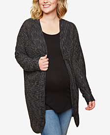 Motherhood Maternity Plus Size Open-Front Cardigan
