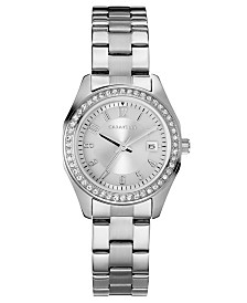 Caravelle Designed by Bulova  Women's Stainless Steel Bracelet Watch 28mm
