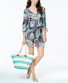 Bar III Tie-Dyed Tunic Cover-Up, Created for Macy's