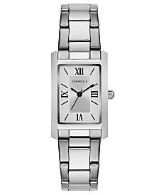 Caravelle Designed by Bulova  Women's Stainless Steel Bracelet Watch 21x33mm