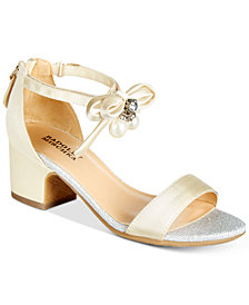 Badgley Mischka Pernia Pearl Bow Sandals, Little Girls & Big Girls