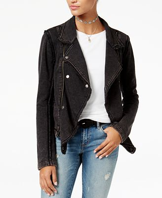 American Rag Juniors' Knit Moto Jacket, Created for Macy's