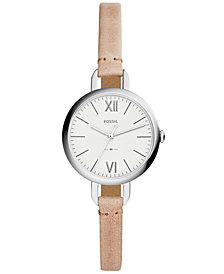 Fossil Women's Annette Sand Leather Strap Watch 30mm