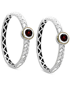Final Call by EFFY® Rhodolite Garnet Hoop Earrings (2-1/10 ct. t.w.) in Sterling Silver & 18K Gold