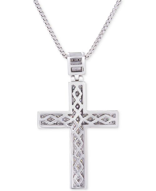 gem cross ottega necklace grande paved crop products