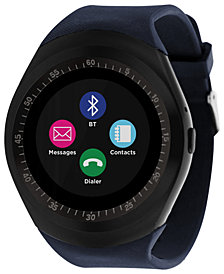 iTOUCH Unisex Curve Navy Silicone Strap Touchscreen Smart Watch 44mm